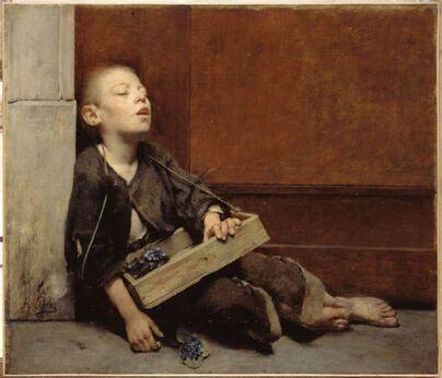 PEINTURE - Fernand PELEZ - Le petit marchand de violettes
