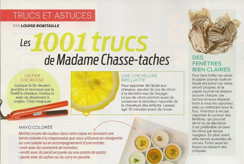 Les 1001 trucs de Madame Chasse-taches