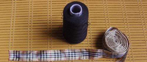 Sautoir en ruban de style burberry
