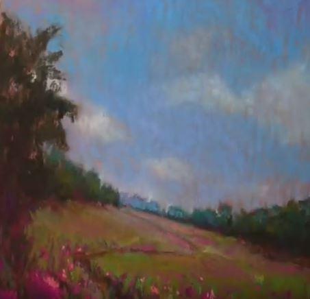 Dessin et peinture - vidéo 2079 : Un printemps pour se souvenir sur support pastel.
