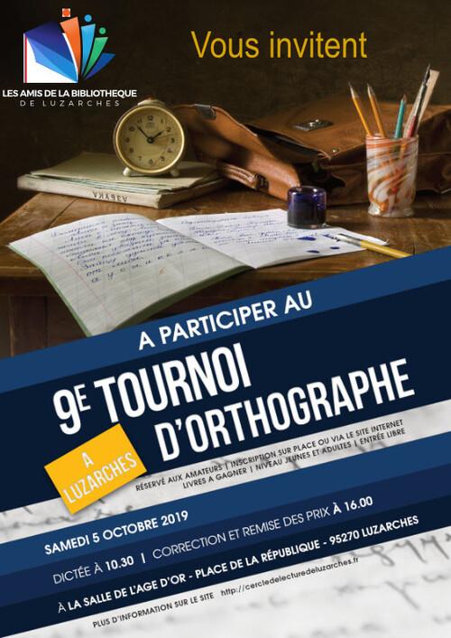 TOURNOI D'ORTHOGRAPHE