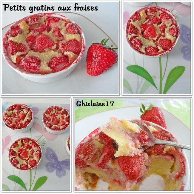 Petits gratins aux fraises