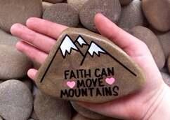 La foi peut se déplacer montagnes peintes en pierre roches image 4
