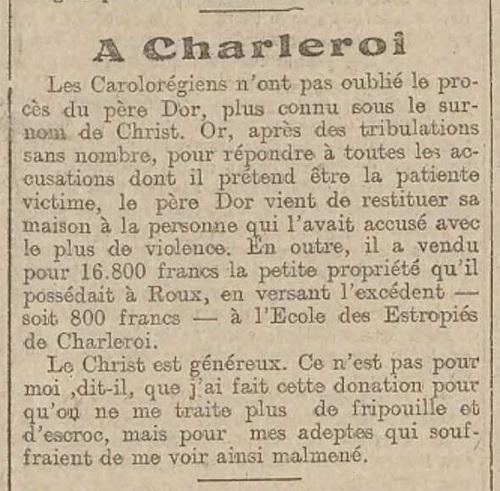 A Charleroi (L'écho belge, 8 novembre 1917)