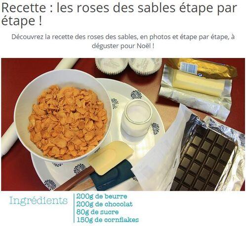* Atelier cuisine: les roses des sables