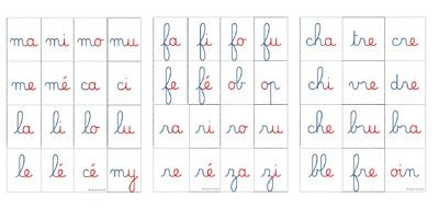 Le jeu des syllabes