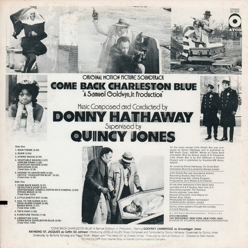 "Donny Hathaway : Album "" Come Back Charleston Blue (Original Motion Picture Soundtrack) "" Atco Records SD 7010 [ US ]"