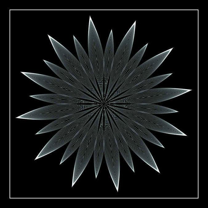 Mandalas fond noir page 1