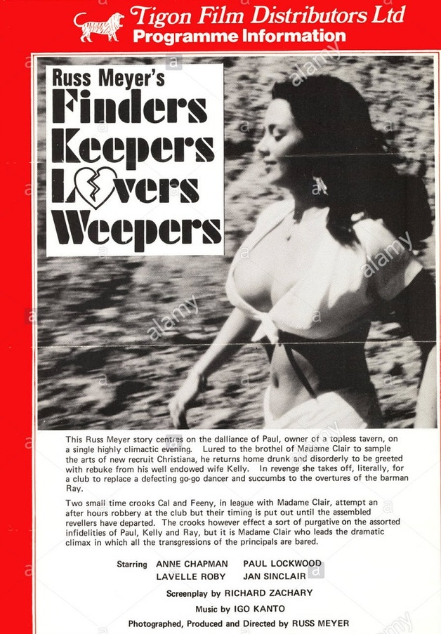 FINDER KEEPERS LOVERS WEEPERS box office USA 1968
