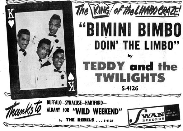 The Buddies (7)   aka Teddy & The Twilights (4) aka The Tiffanys (1)