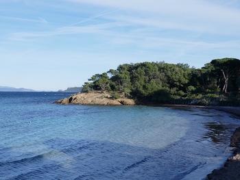 La plage d'Argent, vers l'Est