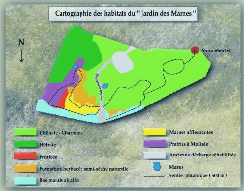 Plan du Jardin  des Marnes - Vallée du Lison - Doubs