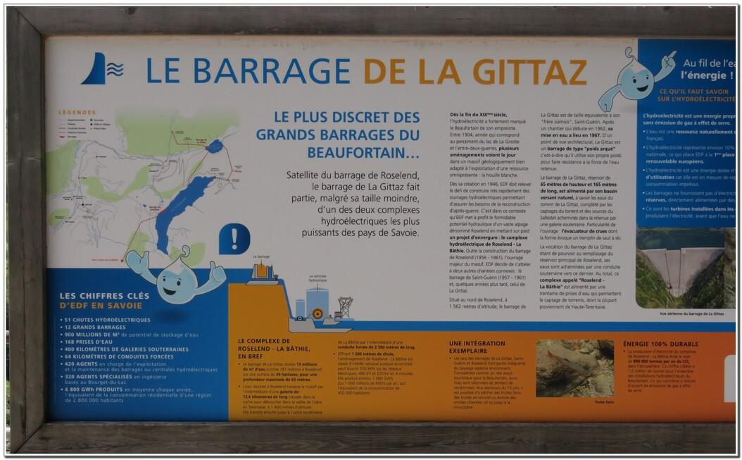 BARRAGE ET LAC DE LA GITTAZ  - SAVOIE