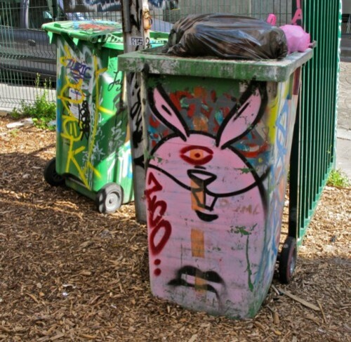 poubelle Street-art Kommune Belleville 1
