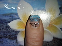 Pose de gel et French en bleue
