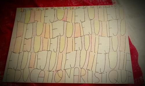 Tous ce que j'ai fais en Art (Julie)!
