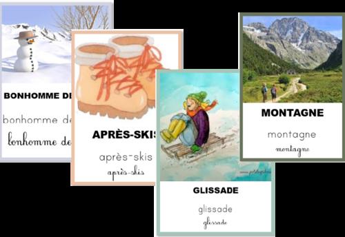 Imagier de l'hiver - 48 cartes