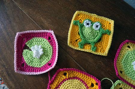 Couverture grenouille : Début