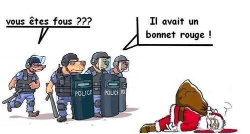 Blague : le bonnet rouge.
