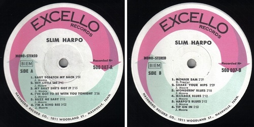 SLIM HARPO - FRENCH ALBUM COMPILATION