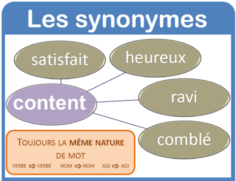 Vocabulaire - Les synonymes
