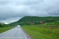 De Høylandet à Trondheim-paysage sous la pluie