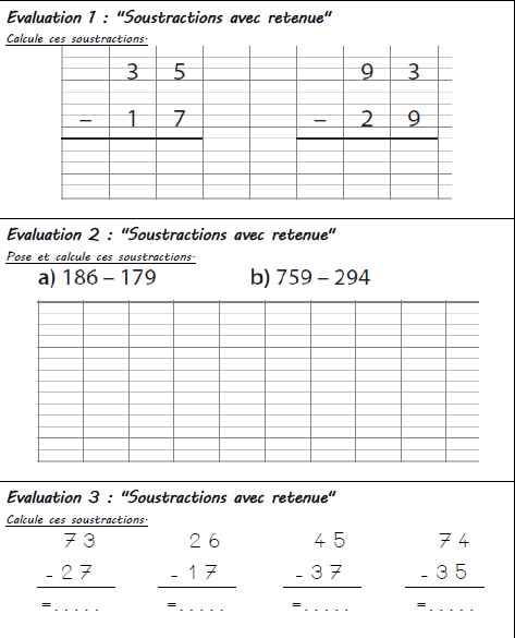 Mini Evaluations De Calculs Ce1 Locazil