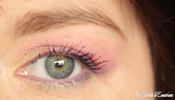 maquillage, yeux, pastel
