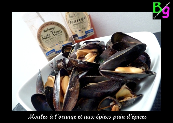 moules orange pain d'épices