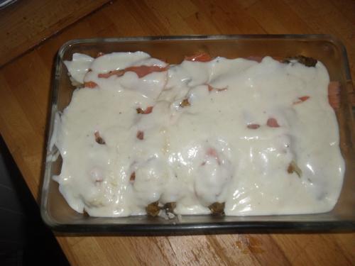 toujours mon envie d'endive : gratin d'endives au saumon et chèvre frais
