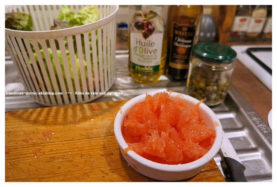 Salade d'Ailes de raie aux agrumes