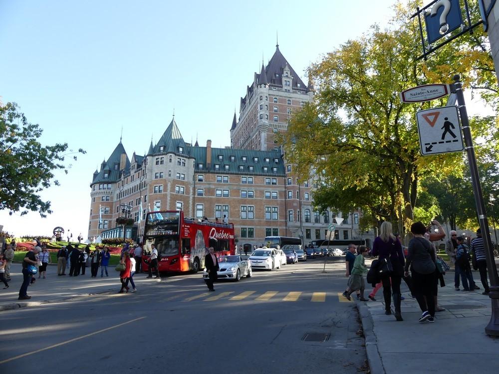 Notre rally pedestre dans le vieux Québec...