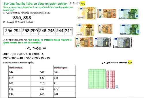 maths CE1 réponses