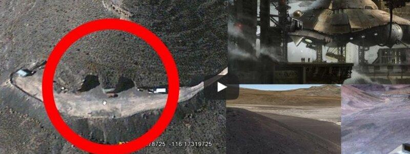 Une entrée d'une Base Secrète découverte près de la Zone 51