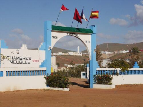 L'entrée du camping Sidi Ifni