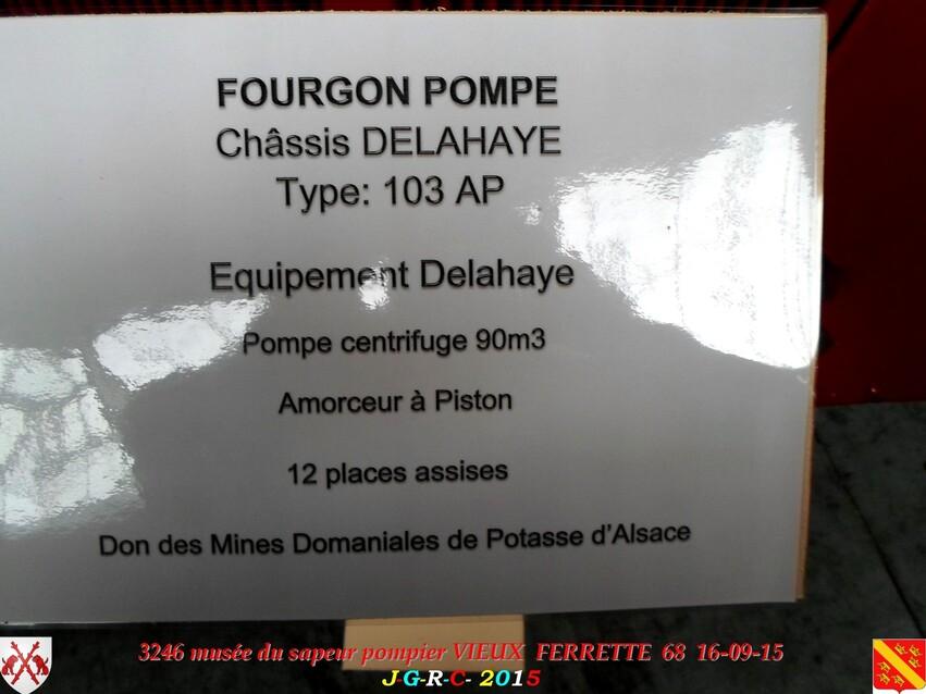 Musée du Sapeur Pompier d'ALSACE  3/4  21/26   VIEUX FERRETTE  68   D  15-06-2016