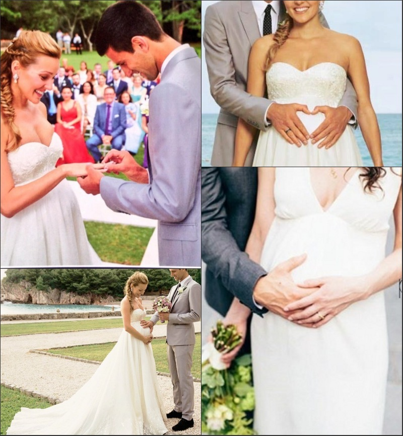 Novak Djokovic & Jelena Ristic 2014 mariage.jpg