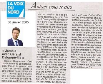 02 30 janvier 2005 Jamais avec Gérard