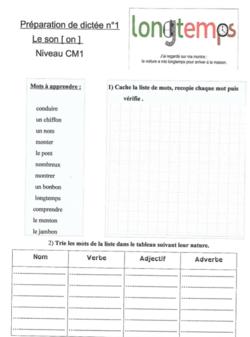 Dictées préparées CM1