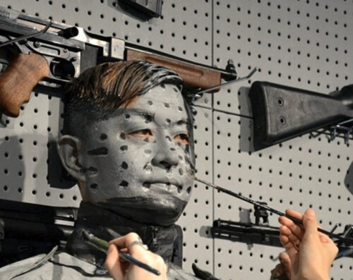 Liu Bolin gun rack 4
