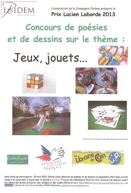 Affiche prix Lucien Laborde 2013 Jeux jouets