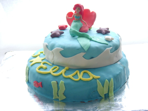 Gâteau d'anniversaire Ariel