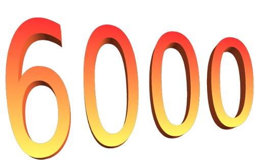6000 visiteurs !!