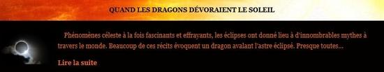 Quand les dragons dévoraient le soleil