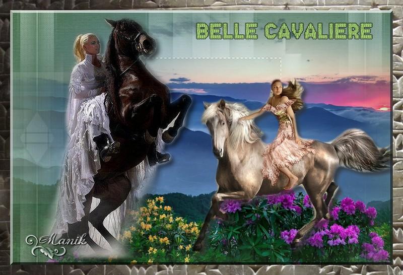 Défi pour mon amie Beauty Belle cavalière