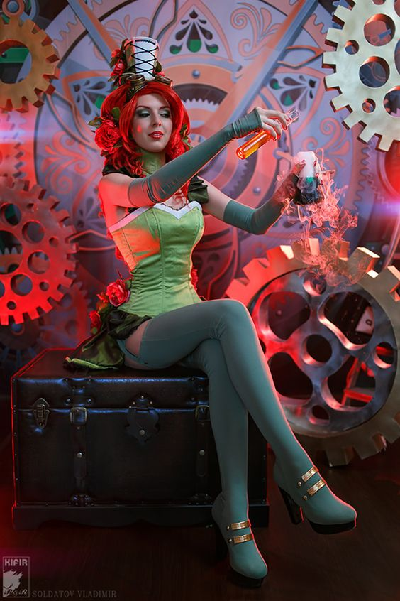Poison Ivy Goes the Steampunk Mad Scientist Route in This Fun Cosplay: