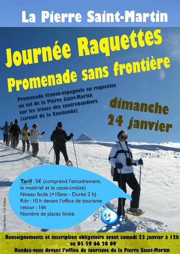 Journée raquette à Neige à la Pierre Saint Martin 2016