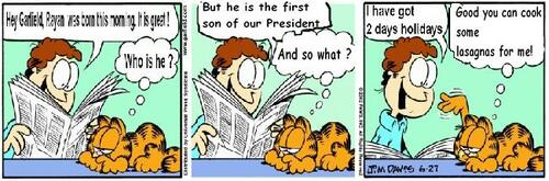 Garfield celebrates my birthday