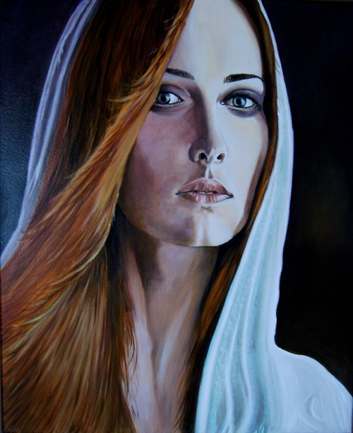 portrait huile sur toile 65x50