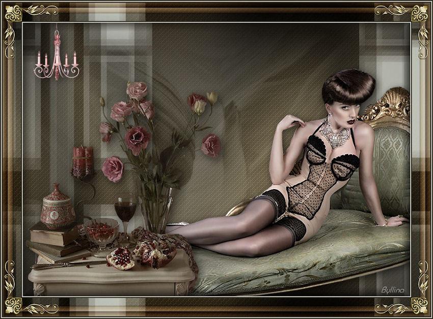 La femme sur le divan